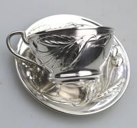 Eduard Friedman - Extremely Rare 800 Solid Silver Vienna Cup & Saucer 1900 (6 of 15)
