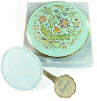 Rare Unused 1930s Hand Painted Enamel Stratton Powder Compact (2 of 8)
