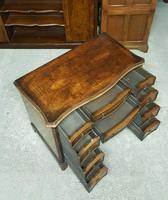 Antique Serpentine Front Walnut Desk (6 of 10)