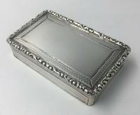 Superb Silver William IV Larger Snuff Tobacco Box Edward Smith 1835 (7 of 9)