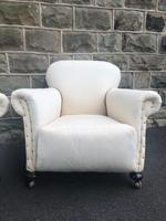 Pair of antique English armchairs for recovering (3 of 9)