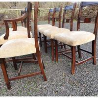 Fine Set of 8 Georgian Mahogany Dining Chairs (4 of 7)