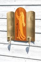 Pair of Swedish Art Deco Double Candle Sconces by Mjolby Intarsia c.1930 (11 of 21)