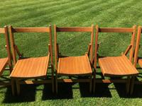Antique Set of 8 Folding Beech Chairs (6 of 9)