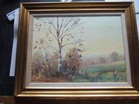 Charles Brooker Oil on Board - Part of Ashdown Forest