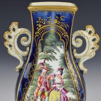 Chelsea Porcelain Gold Anchor Period Blue Ground Vase c.1765 (12 of 14)