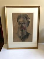Charcoal Painting Of Man In Turban, Signed And Framed (8 of 9)