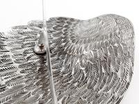 Victorian Silver Plated Toast Rack Shaped as a Bird Wing Engraved with Feathers (9 of 10)