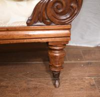 Regency Chaise Longue Sofa Walnut Lounge Day Bed (14 of 25)