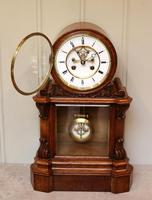 Mid Victorian Drumhead Visible Escapement Mantel Clock (6 of 11)