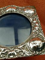 Antique Sterling Silver Reynolds Angels  Picture Frame with Bevelled Glass C1900 (4 of 12)