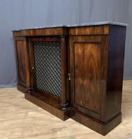 Beautiful Regency Rosewood 3 Door Breakfront Cabinet (9 of 11)
