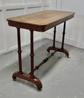 Elegant Victorian Arts & Crafts Birch and Mahogany Side Table (8 of 8)