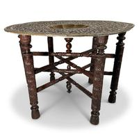 North African Folding Brass Tray Table (2 of 9)