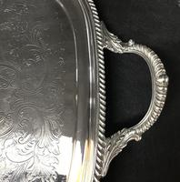 Large Silver Plated Butlers Tray by Barker & Ellis (6 of 9)