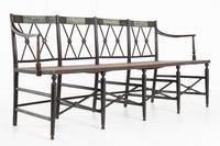 English 19th Century Regency Ebonised Cane Seat Sofa (5 of 8)
