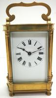 Rare & Unusual Cased Antique French 8-day Timepiece Carriage Clock c.1900 (10 of 10)