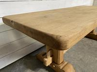 French Bleached Oak Farmhouse Table Nice Thick Top (12 of 14)