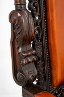 Superb Pair of Oak Throne Chairs (13 of 14)