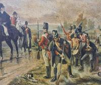 Antique Oil Painting - Wellington At Waterloo, The Dawn Of Day June 18th 1815 (After Robert Alexander Hillingford 1896) (5 of 8)