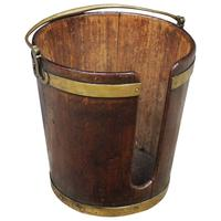 George III Mahogany & Brass Bound Plate Bucket