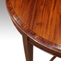 Edwardian Inlaid Circular Mahogany Occasional Table (2 of 6)