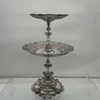 Mid 19th Century Antique Victorian Sterling Silver Suite Comports London 1862 Robert Garrard (6 of 12)