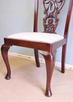 Antique Set of Six Antique Mahogany Chippendale Style Dining Chairs (5 of 9)