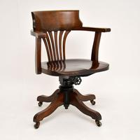 Antique Victorian Swivel Desk  Chair (4 of 12)