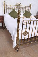 Handsome Super King Size Victorian all Brass Bed (10 of 12)