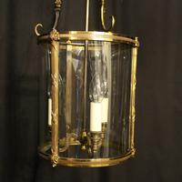 French Gilded Bronze Convex Antique Hall Lantern (9 of 10)