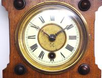 Antique combination HAC 8 Day Wall Clock Clock displays clock, barometer and thermometer (7 of 10)