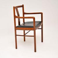 Danish Vintage Rosewood & Leather Armchair / Desk Chair (2 of 12)