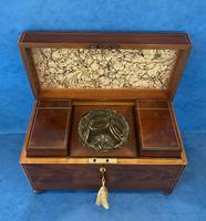George III Mahogany Twin Canister Tea Caddy (14 of 17)
