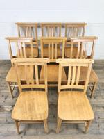 Set of Eight Vintage Beech Chapel Chairs (2 of 16)