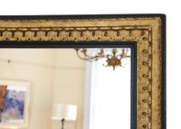 Large Black and Gilt 19th Century Overmantle or Wall Mirror (5 of 6)
