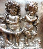 Silvered on Copper Wall Putti Plaque (11 of 12)