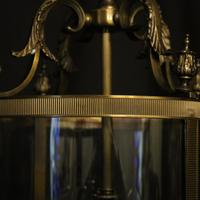 French Gilded Four Light Convex Hall Lantern (8 of 10)