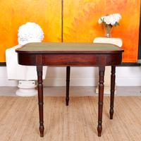 Antique Card Table 19th Century Mahogany Folding Inlaid
