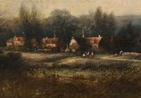Victorian Oil Painting English Norfolk Landscape Rustic c.1860 Arcadia (10 of 17)