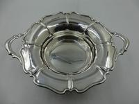 Antique Silver Two Handled Dish Sheffield 1905 by Atkin Bros