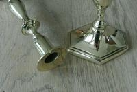 Pair of Quality Georgian Style Brass Candlestick Pearson Page c.1910 (4 of 5)