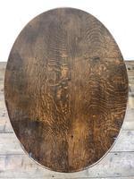 Unusual Antique Oak Oval Top Table (12 of 12)