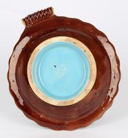 Minton Majolica Pottery Pedestal Chestnut Dish Dated 1867 (6 of 14)