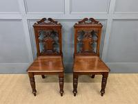 Good Pair of Victorian Walnut Hall Chairs (2 of 13)