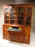 Early 20th Century Mahogany Breakfront Bookcase of the Finest Quality (5 of 7)