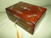 Inlaid Rosewood Jewellery / Table Box c.1860 (6 of 8)
