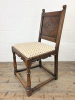 Set of Six Early 20th Century Antique Oak Dining Chairs (6 of 12)