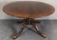 Large Reproduction Circular Oak Dining Table With Two Leaves / Seats 8 Persons (3 of 8)