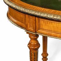 Unusual Victorian Freestanding Oval Satinwood Desk (11 of 12)